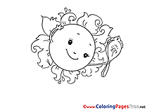 Mirror Colouring Sheet download free