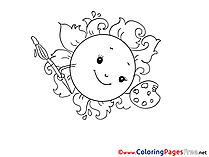 Palette Colouring Page printable free