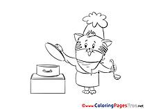 Pan download Colouring Sheet free
