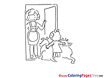 Pets Colouring Page printable free