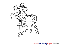 Photographer for free Coloring Pages download