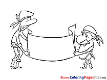 Pirates download printable Coloring Pages