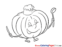 Pumpkin Children download Colouring Page