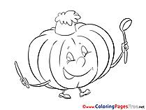 Pumpkin Children download Colouring Page