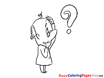 Question Kids download Coloring Pages