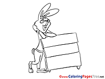 Rabbit Coloring Pages for free