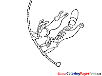 Rope download Colouring Sheet free