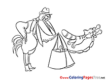 Sausages Children Coloring Pages free