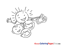 Selfie Children Coloring Pages free