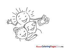 Selfie Coloring Sheets download free