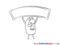 Sheep Kids free Coloring Page
