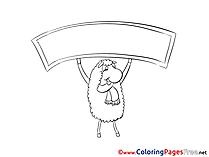 Sheep Kids free Coloring Page