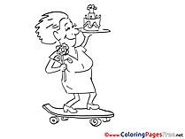 Skateboard for free Coloring Pages download