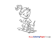 Skateboard free printable Coloring Sheets