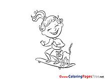 Skateboard free printable Coloring Sheets