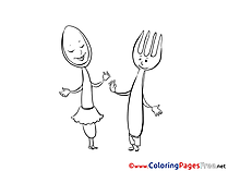 Spoon free printable Coloring Sheets