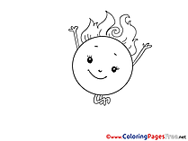 Sun Children download Colouring Page