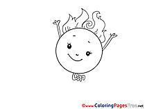 Sun Children download Colouring Page