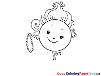 Sun download Colouring Sheet free