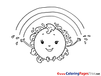 Sun for Children free Coloring Pages