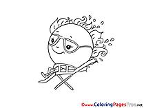 Sunglasses printable Coloring Sheets download