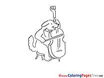 Violoncello Colouring Page printable free