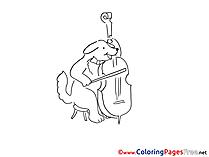 Violoncello Colouring Page printable free