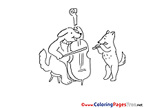 Violoncello for free Coloring Pages download
