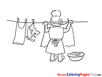 Washing Coloring Sheets download free