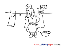 Washing free Colouring Page download