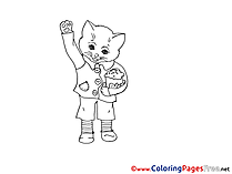 Cat Coloring Sheets download free
