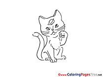 Cat free printable Coloring Sheets
