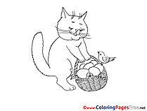 Cat Kids download Coloring Pages