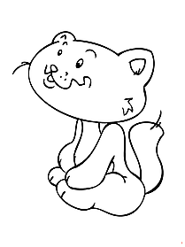 Cat printable coloring page free