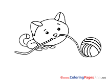 Clew Cat Coloring Pages for free