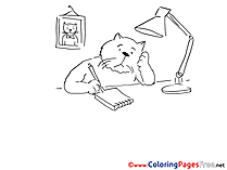 Letter Cat Colouring Sheet download free