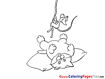 Rat Cat for Children free Coloring Pages