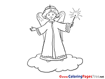 Angel printable Christmas Coloring Sheets