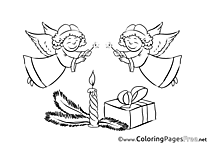 Angels Colouring Page Christmas free