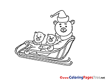 Animals Christmas Coloring Pages download