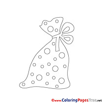 Bag Christmas Coloring Pages download