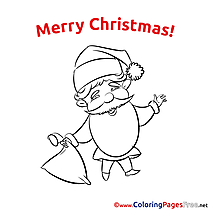 Bag Christmas Coloring Pages free
