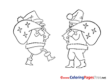 Bags Christmas Coloring Pages download