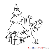 Boy download Christmas Coloring Pages