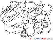 Branch Bell Toys Christmas Colouring Sheet free