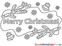 Branch printable Coloring Pages Christmas