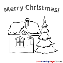 Building  printable Coloring Pages Christmas