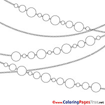 Chain Garland Colouring Page Christmas free