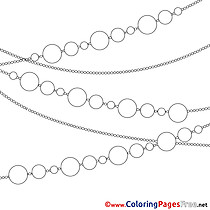 Chain Garland for Kids Christmas Colouring Page