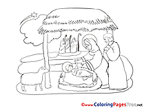 Creche Kids Christmas Coloring Pages
